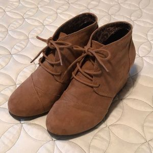 Suede wedges, size 7, worn once